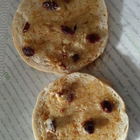 cinnamon and raisin buttered